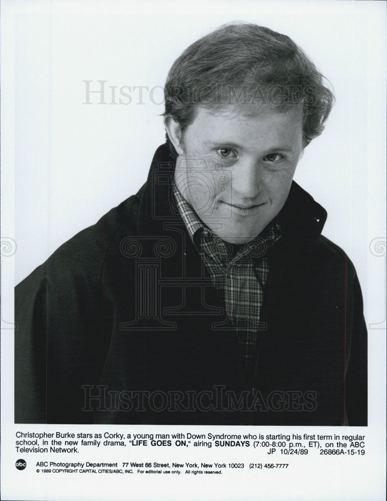 1989 Press Photo Christopher Burke from Life Goes On - Historic Images