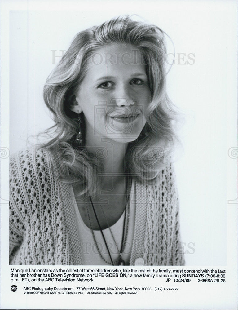 "1989 Press Photo Monique Lanier on ""Life Goes on"" - Historic Images"