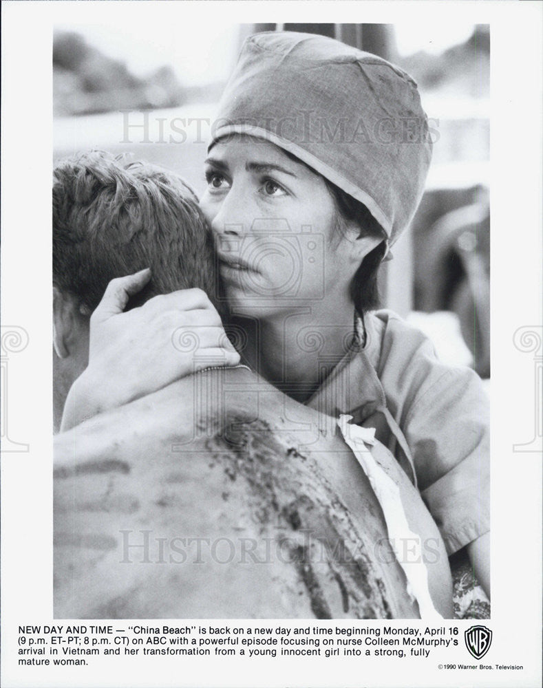 "1990 Press Photo Scene in ""China Beach"" - Historic Images"