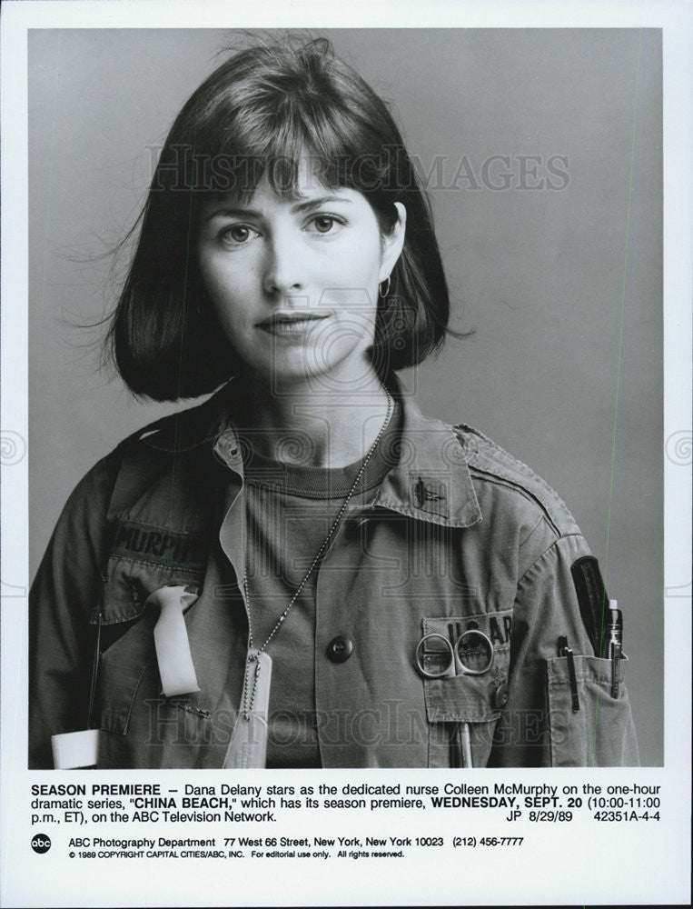 1989 Press Photo Dana Delany actress on China Beach - Historic Images