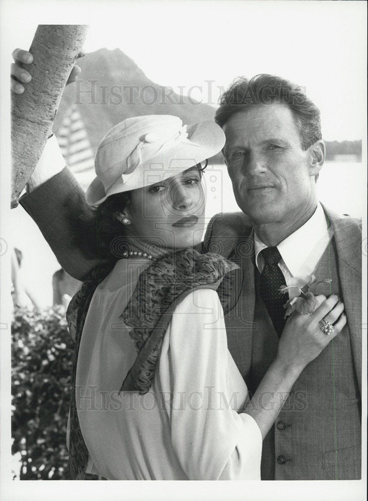 1985 Press Photo Actor Sean Young and Actress Kris Kristofferson - Historic Images
