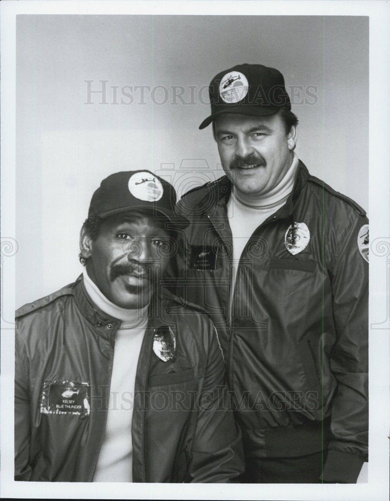 "Press Photo Bubba Smith & Dick Butkus in ""Blue Thunder"" - Historic Images"