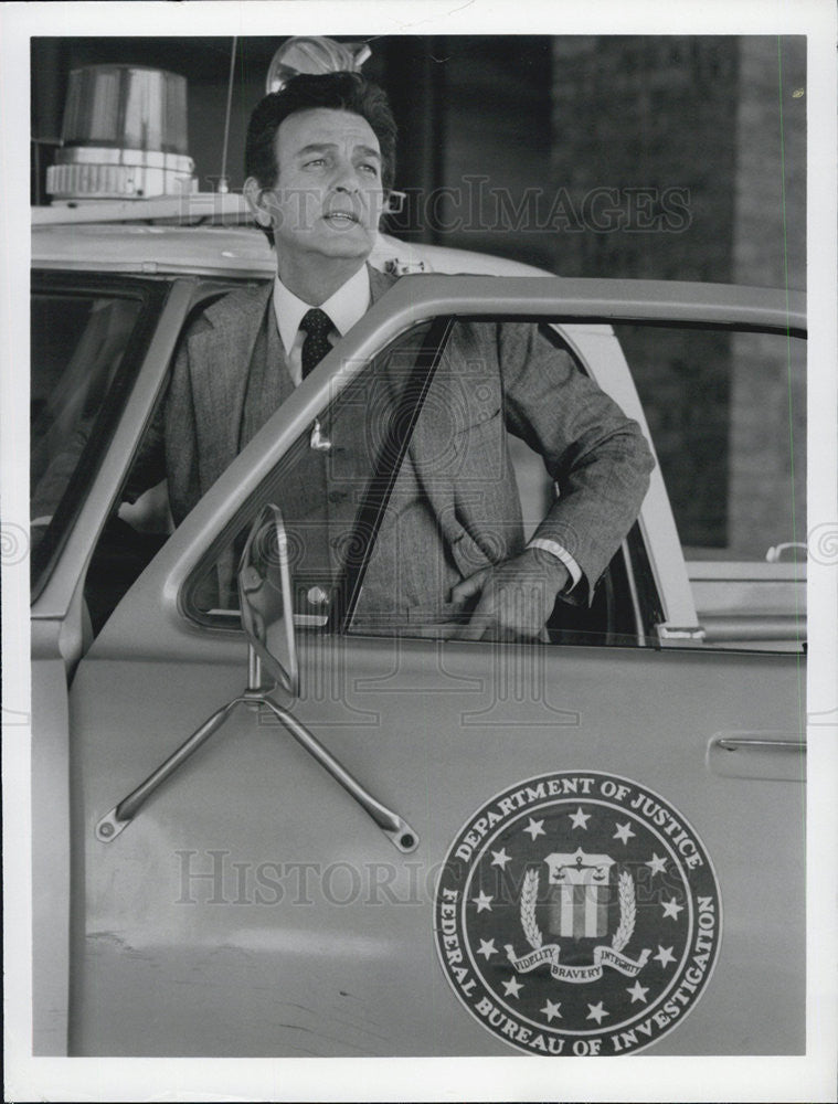 1981 Press Photo Mike Connors TV series Today's FBI - Historic Images