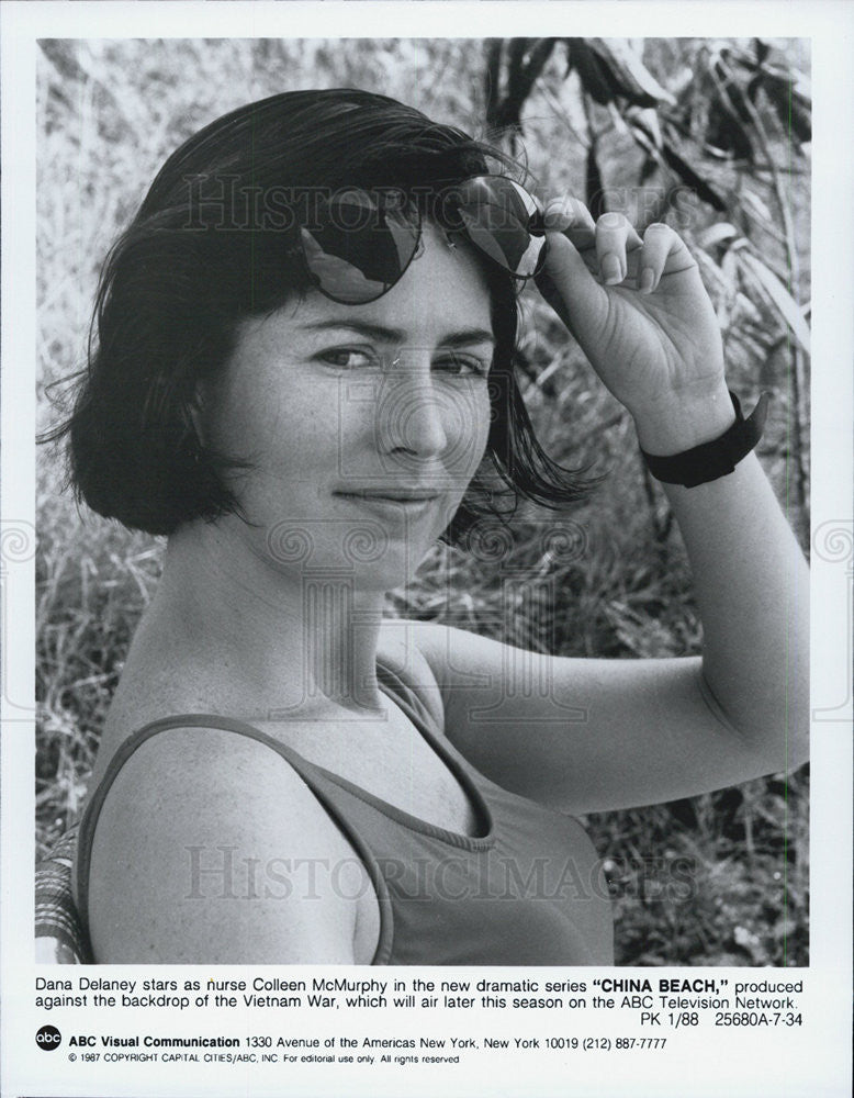 "1988 Press Photo Dana Delaney in ""China Beach"" - Historic Images"
