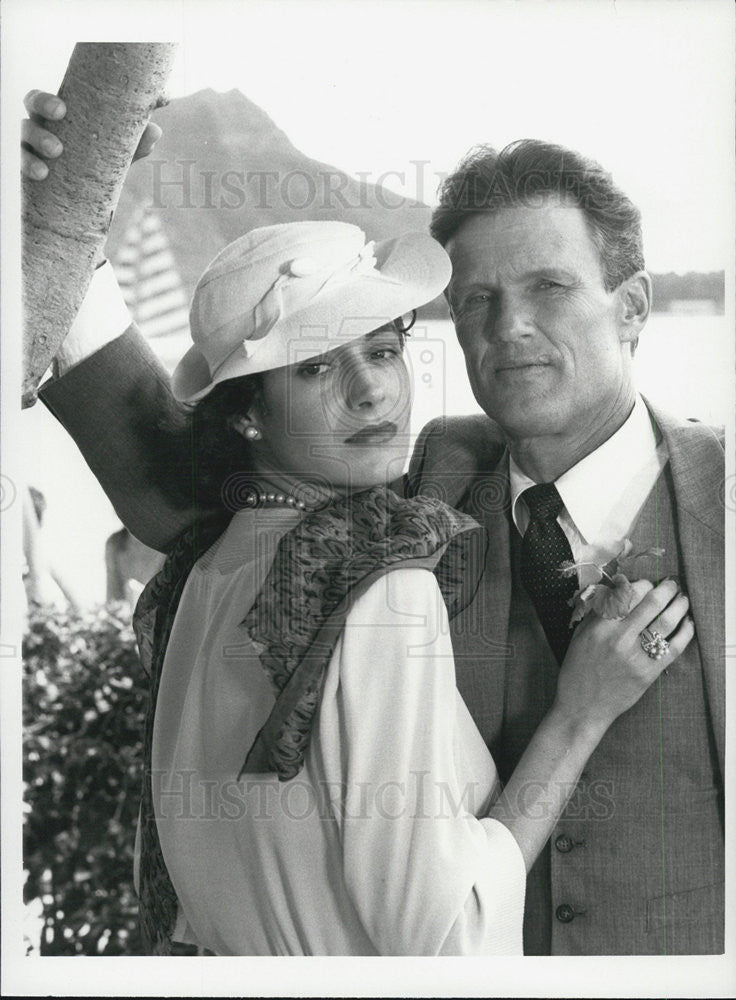 Press Photo Sean Young Kris Kristofferson Blood & Orchids Movie - Historic Images