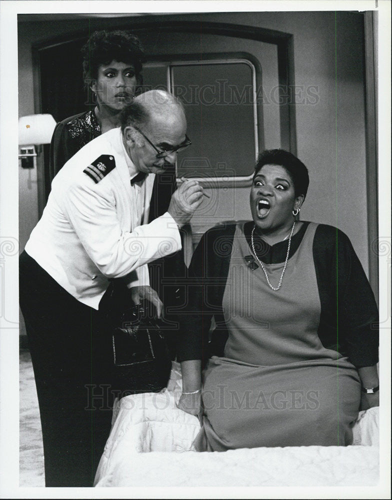 1985 Press Photo Actress Nell Carter, Telma Hopkins and Actor Cliff Norton - Historic Images