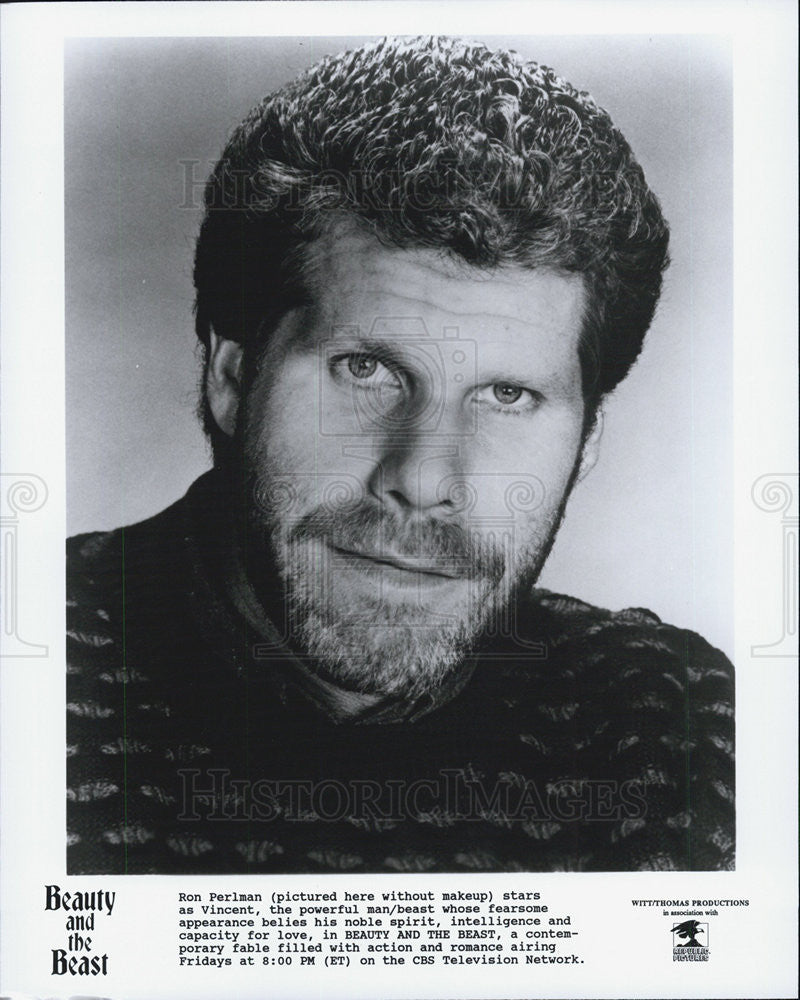 "1987 Press Photo Ron Perlman in ""Beauty and the Beast"" - Historic Images"