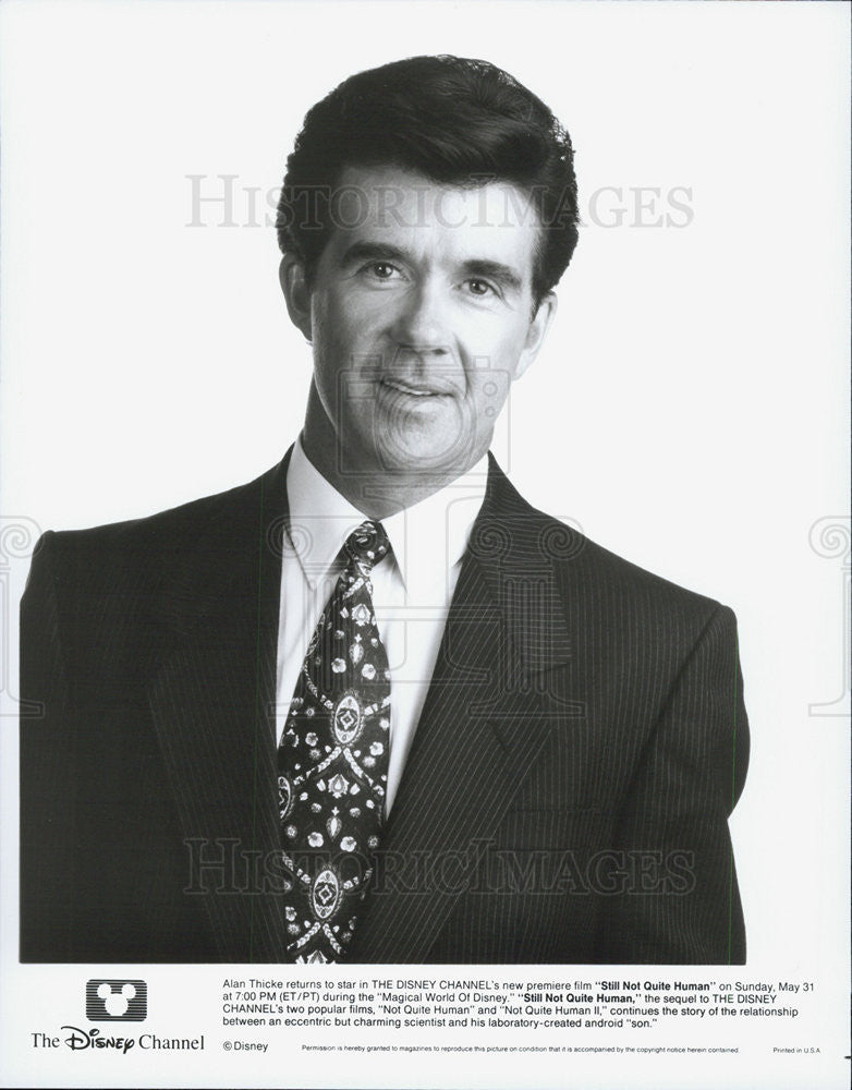 1992 Press Photo Disney Still Not Quite Human Alan Thicke - Historic Images