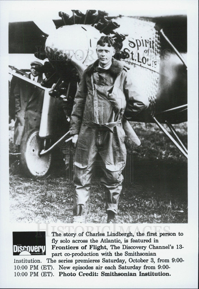 Press Photo Charles Lindbergh first person fly solo across Atlantic - Historic Images