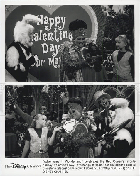 Press Photo Adventures in Wonderland, Disney, Promo, Red Queen, Change of Heart - Historic Images