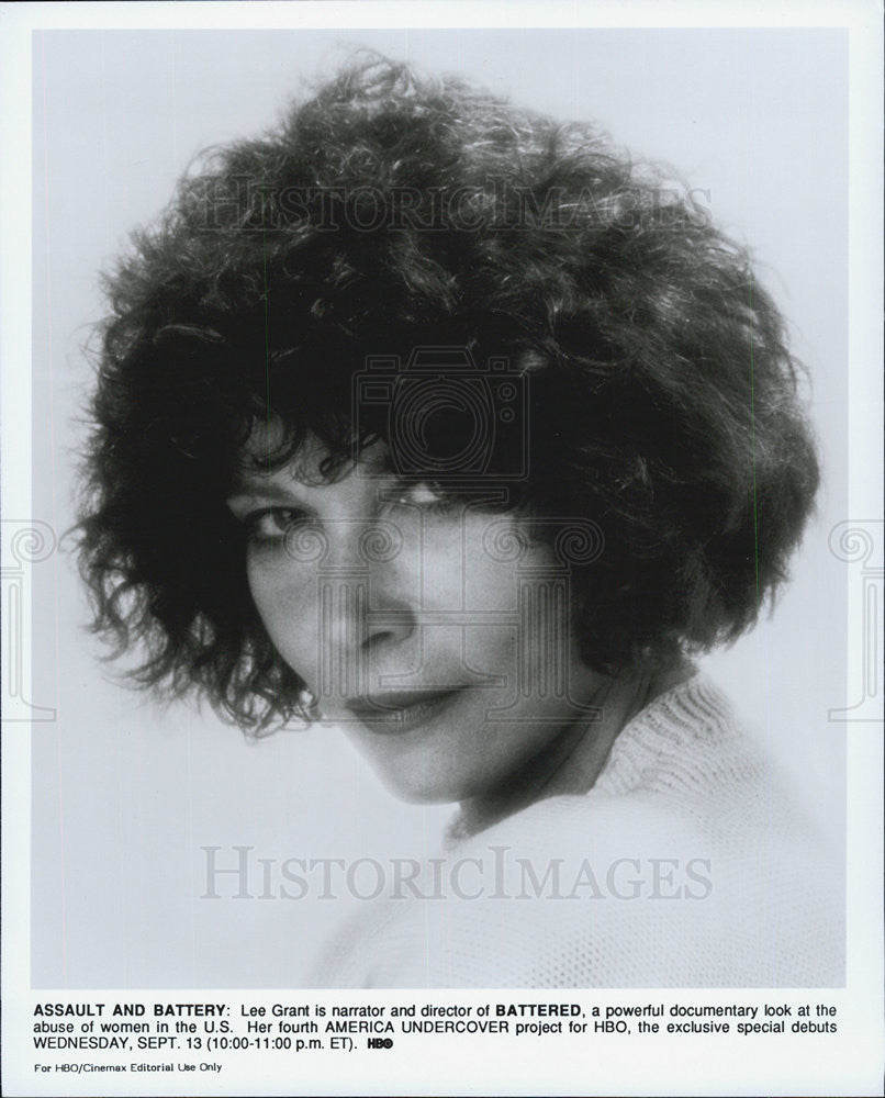 Press Photo Lee Grant, Batter, HBO documentary, Battered - Historic Images