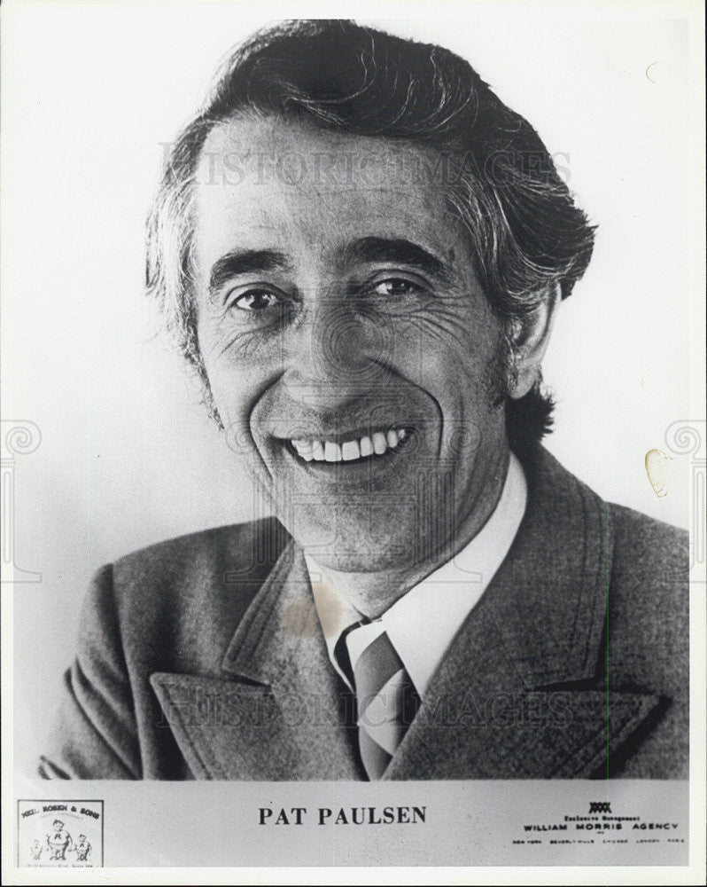 Press Photo of Pat Paulsen, an American comedian and satirist. - Historic Images