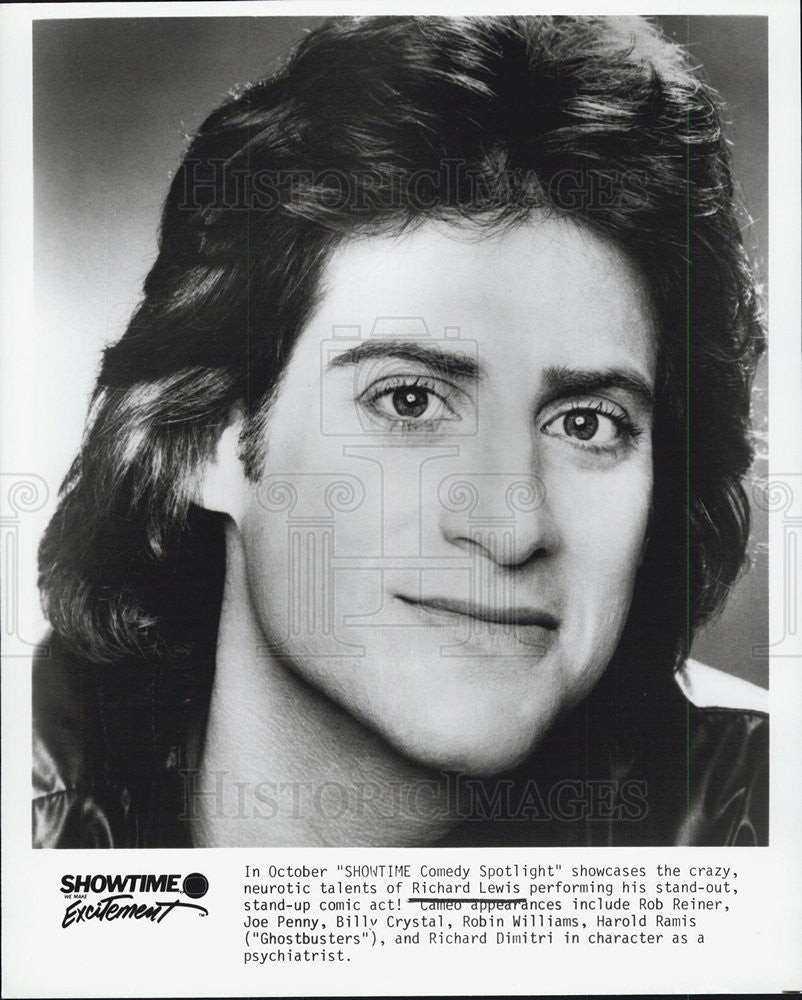 1985 Press Photo Actor Richard Lewis - Historic Images