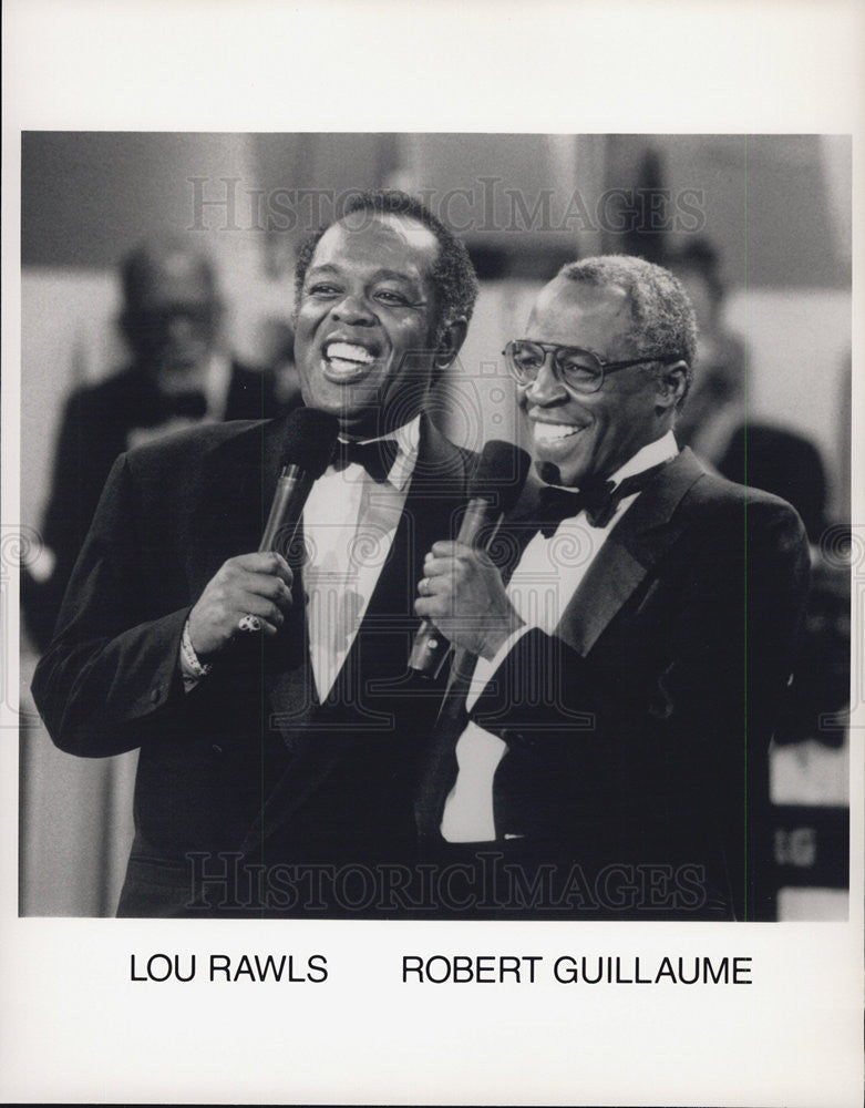 Press Photo Singer Lou Rawls and Robert Guillaume - Historic Images