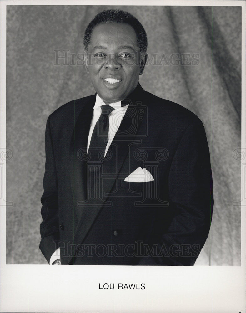 Press Photo Singer Lou Rawls - Historic Images