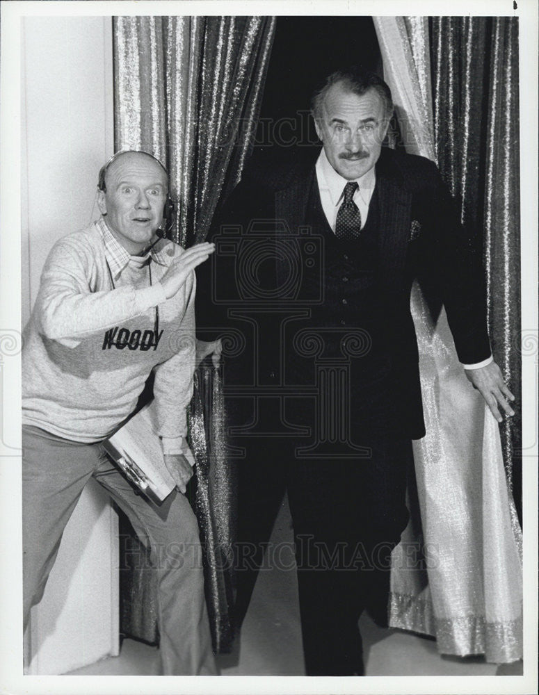 1983 Press Photo Actor Dabney Coleman and Bill Bittinger - Historic Images