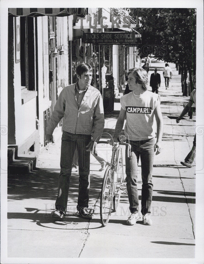 Press Photo of American Actors Thom Bray & Shaun Cassidy stars in Breaking Away - Historic Images