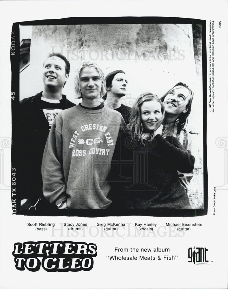 1995 Press Photo Band Letters to Cleo - Historic Images