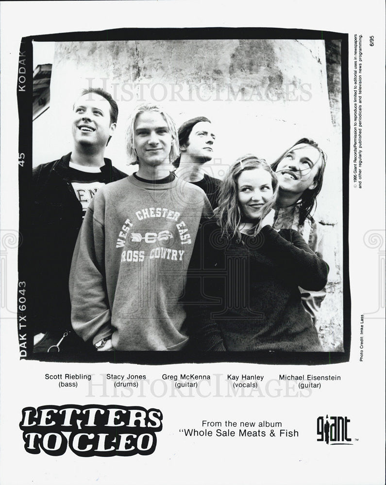 Press Photo Singer Letters to Cleo - Historic Images