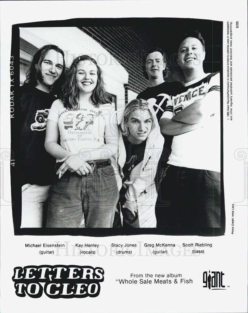 1996 Press Photo Band Singer Letters to Cleo - Historic Images