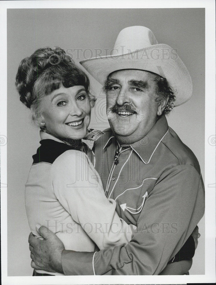1981 Press Photo Actor Phil Foster and Betty Garrett - Historic Images