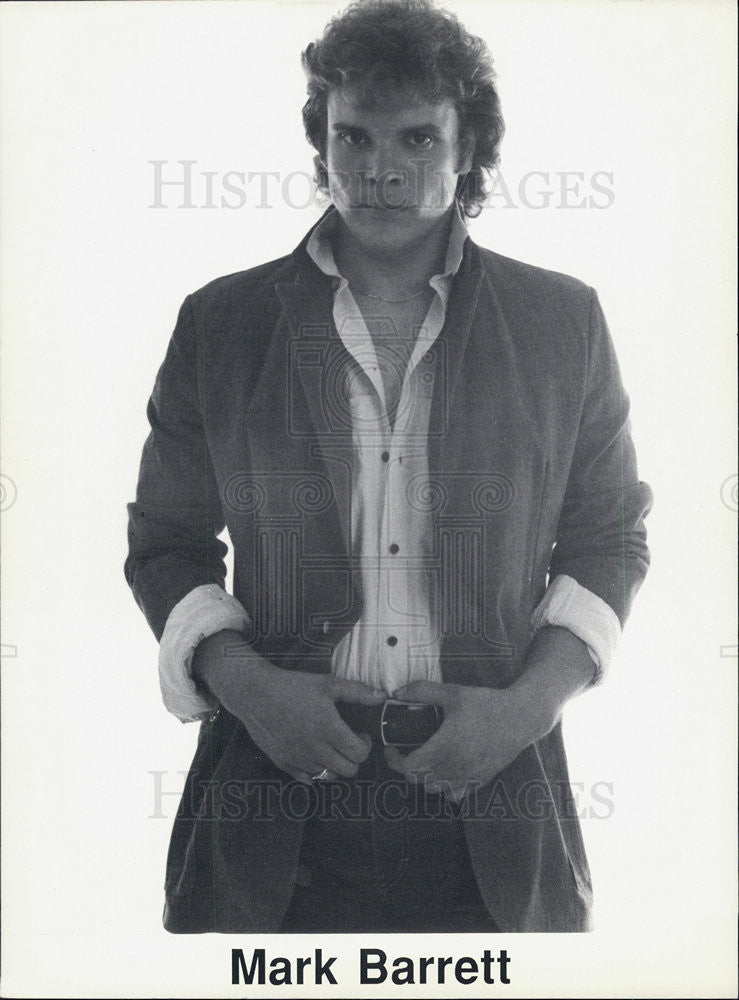 1988 Press Photo of American Actor Mark Barrett. - Historic Images