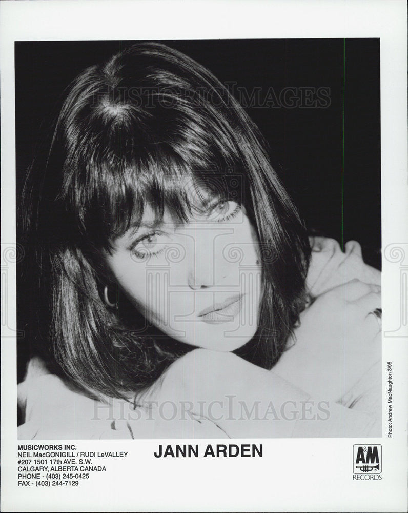 1995 Press Photo of Jann Arden  is a Canadian singer-songwriter. - Historic Images