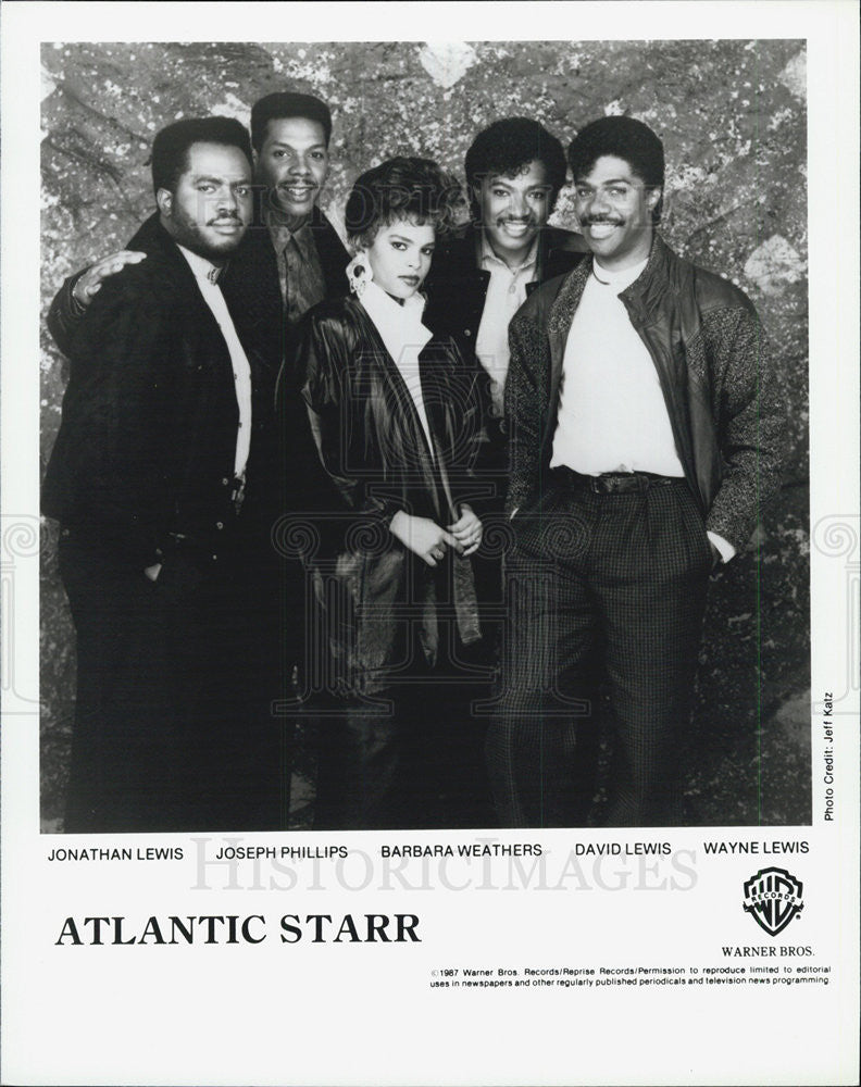 1988 Press Photo Atlantic Starr Jonathan Lewis Joseph Phillips Barbara Weathers - Historic Images