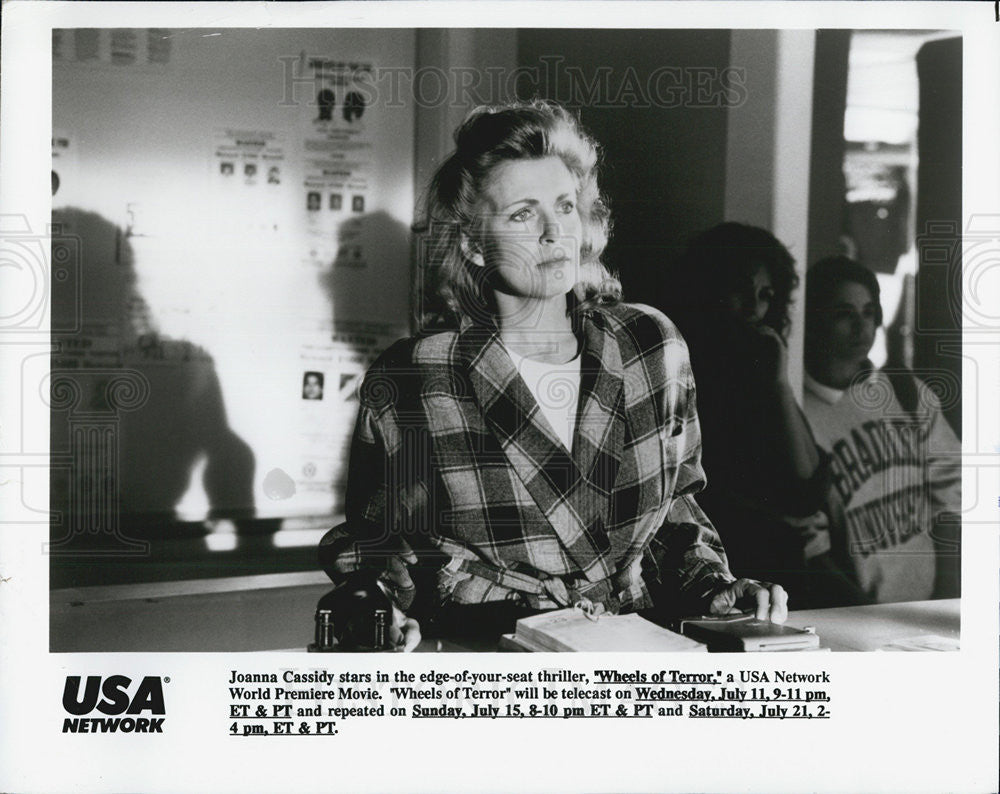 "Press Photo Joanna Cassidy in ""Wheels of Terror"" - Historic Images"