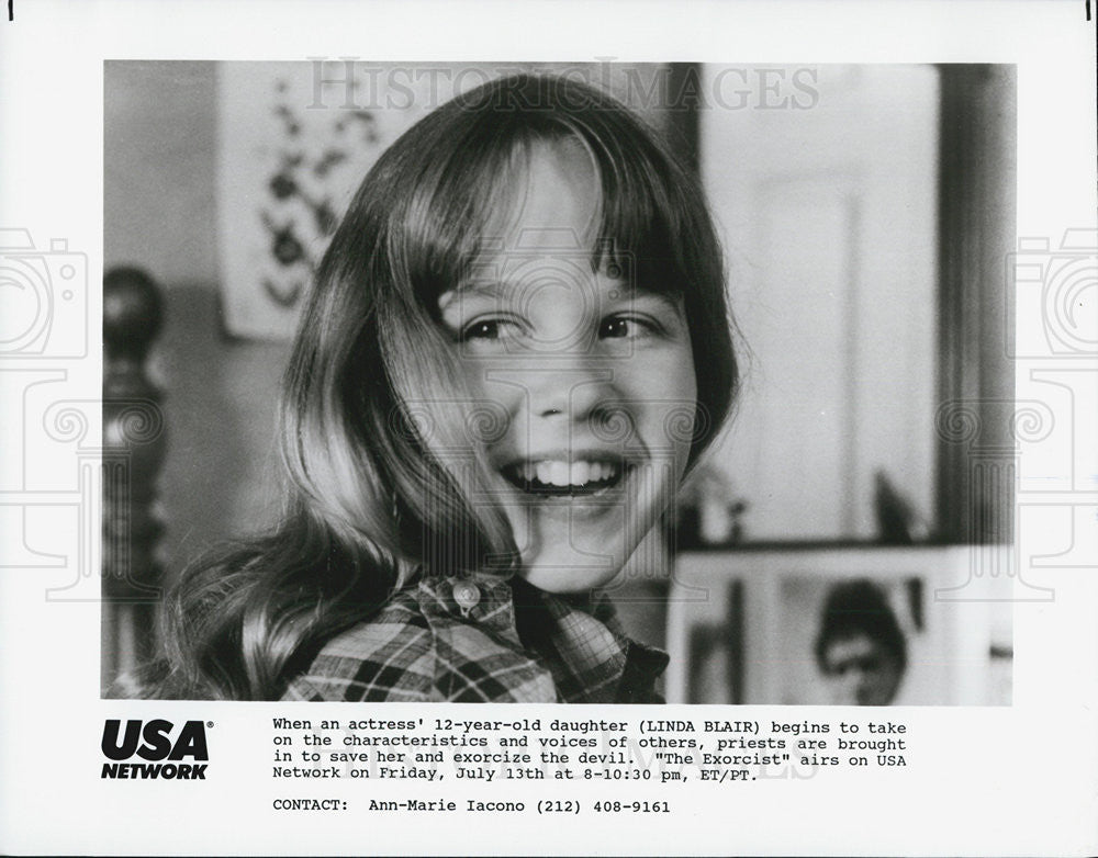 "Press Photo Linda Blair in ""The Exorcist"" - Historic Images"