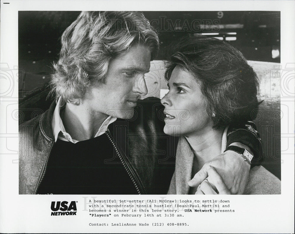 Press Photo Ali McGraw And Dean-Paul Martin In USA Network Film Players - Historic Images