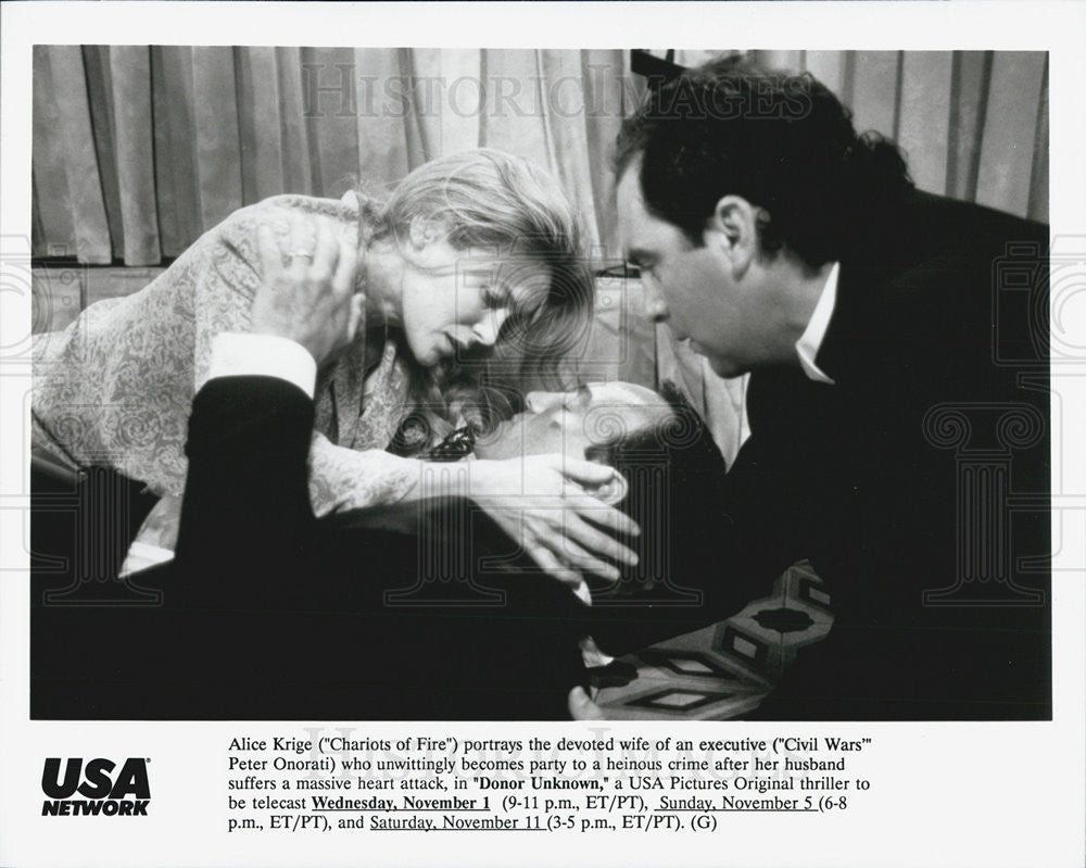 "Press Photo Alice Krige plays the wife of Peter Onorati in ""Donor Unknown"" - Historic Images"