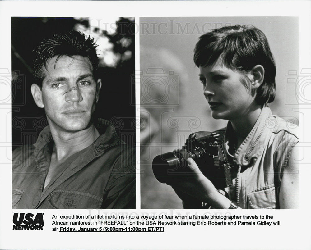"Press Photo Eric Roberts, Pamela Gidley in ""Freefall"" - Historic Images"