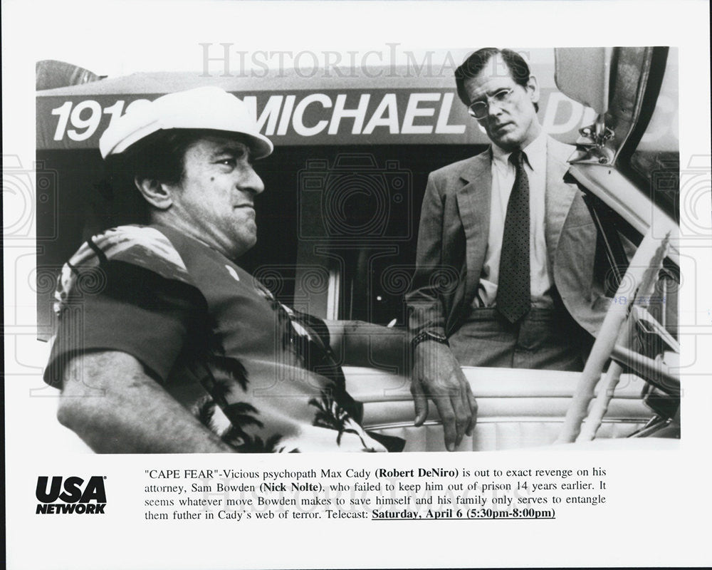 Press Photo Robert DeNiro And Nick Nolte In USA Network Premiere Of Cape Fear - Historic Images