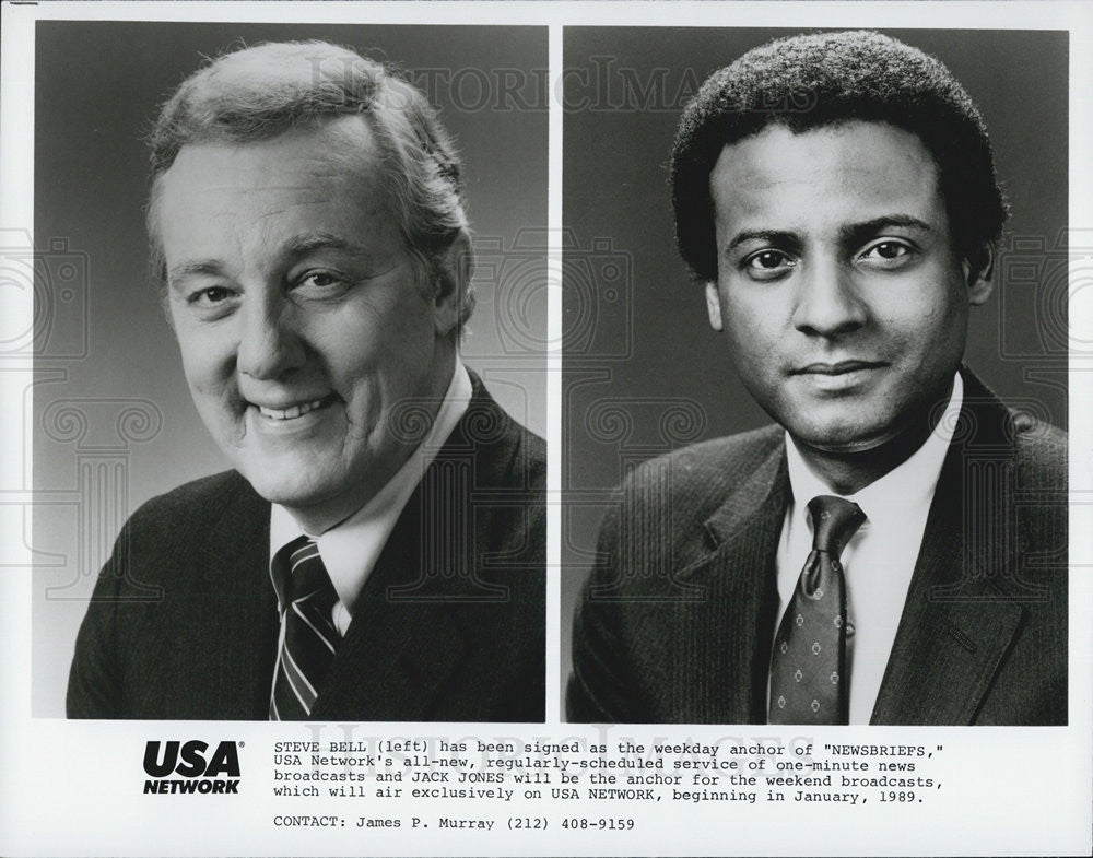 "Press Photo Steve Bell, Jack Bell, anchors of ""Newsbriefs"" - Historic Images"