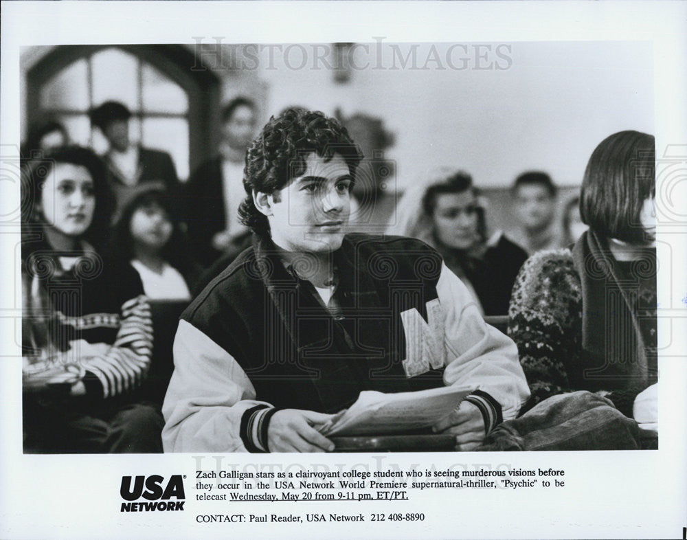 "1991 Press Photo Actor Zach Galligan Starring In Supernatural Thriller ""Psychic"" - Historic Images"