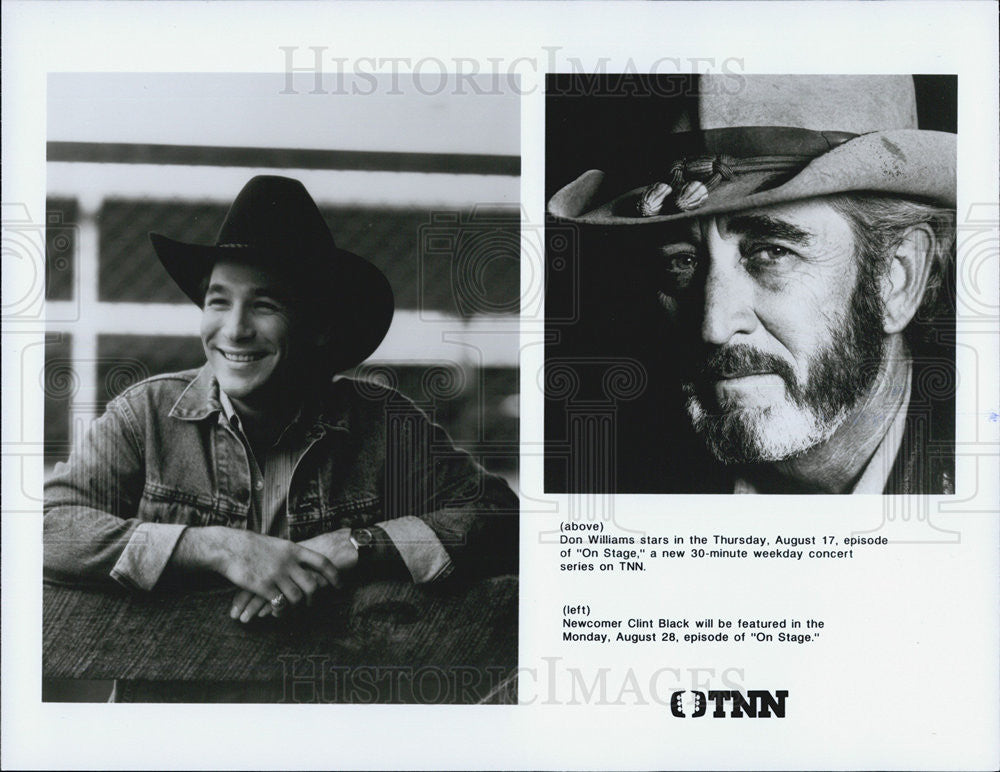 Press Photo Don Williams Clint Black On Stage Country Musicians - Historic Images
