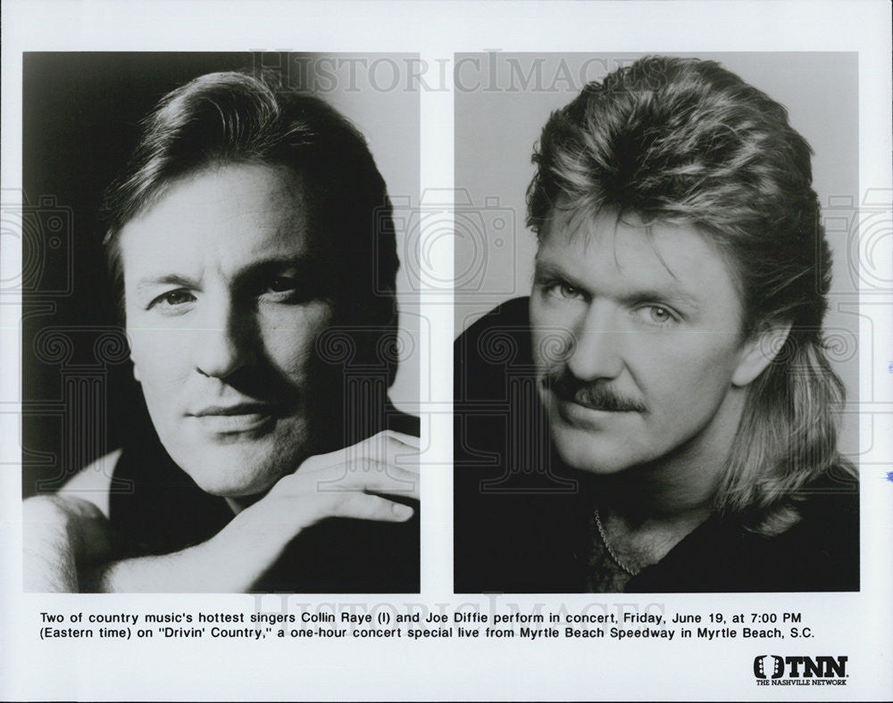 Press Photo Colin Raye And Joe Diffie Perform On Drivin' Country Special On TNN - Historic Images