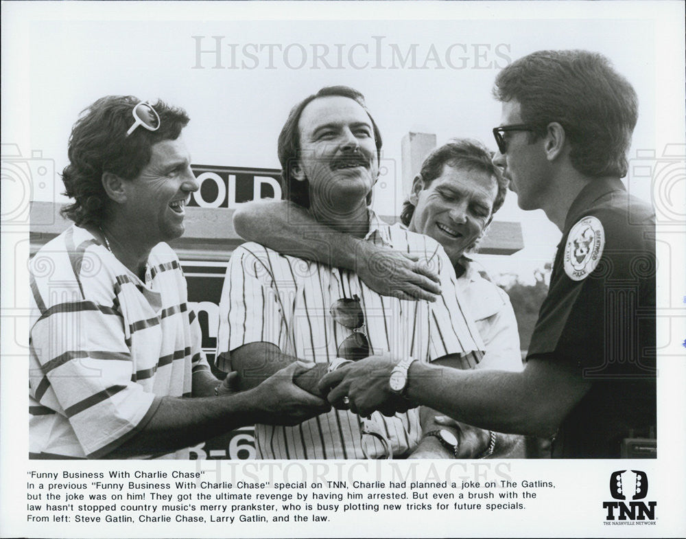 Press Photo Charlie Chase Steve Gatlin TNN Television Film Actor - Historic Images