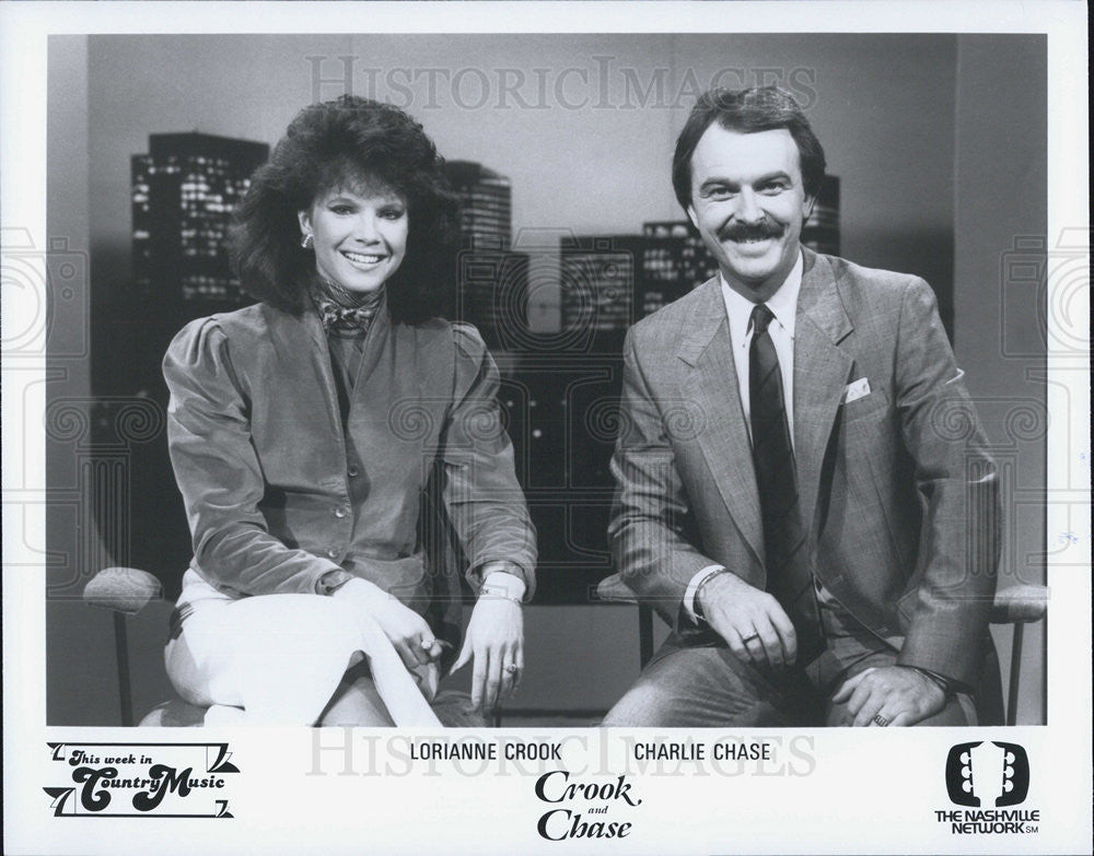 Press Photo Lorianne Crook Charlie Chase Crook And Chase Television Historic Images