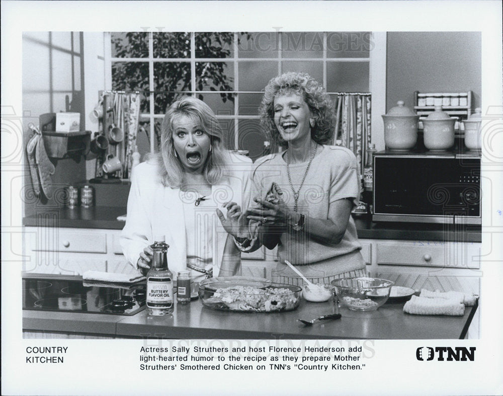 Press Photo Sally Struthers Florence Henderson Actress Country Kitchen Show - Historic Images