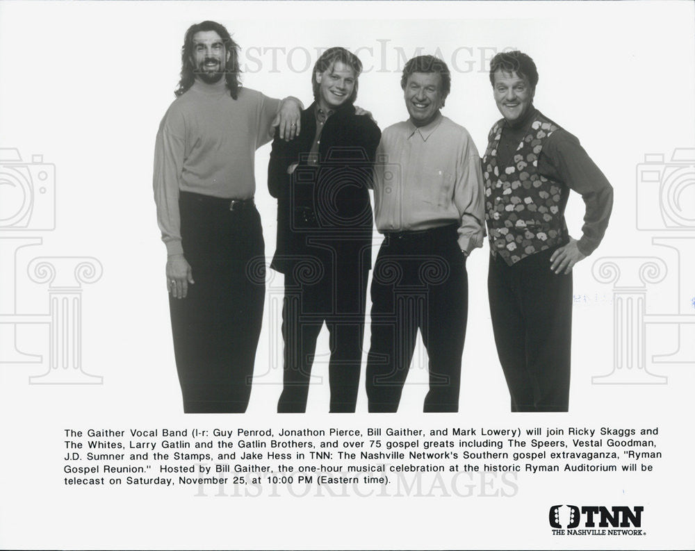 Press Photo Bill Gaither Vocal Band Guy Penrod Jonathan Pierce Mark Lowery - Historic Images