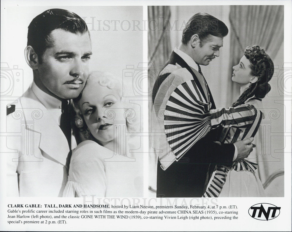 Press Photo Clark Gable Actor Jean Harlow Vivien Leigh Gone With Wind China Seas - Historic Images