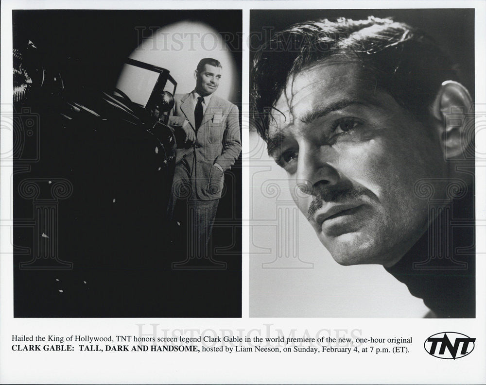 Press Photo Clark Gable Actor Tall Dark Handsome Movie Film Screen Legend - Historic Images