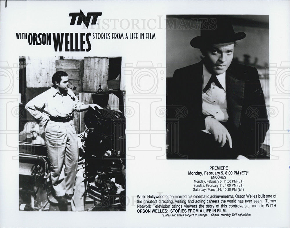 1990 Press Photo Orson Welles: Stories from a life in Film. - Historic Images