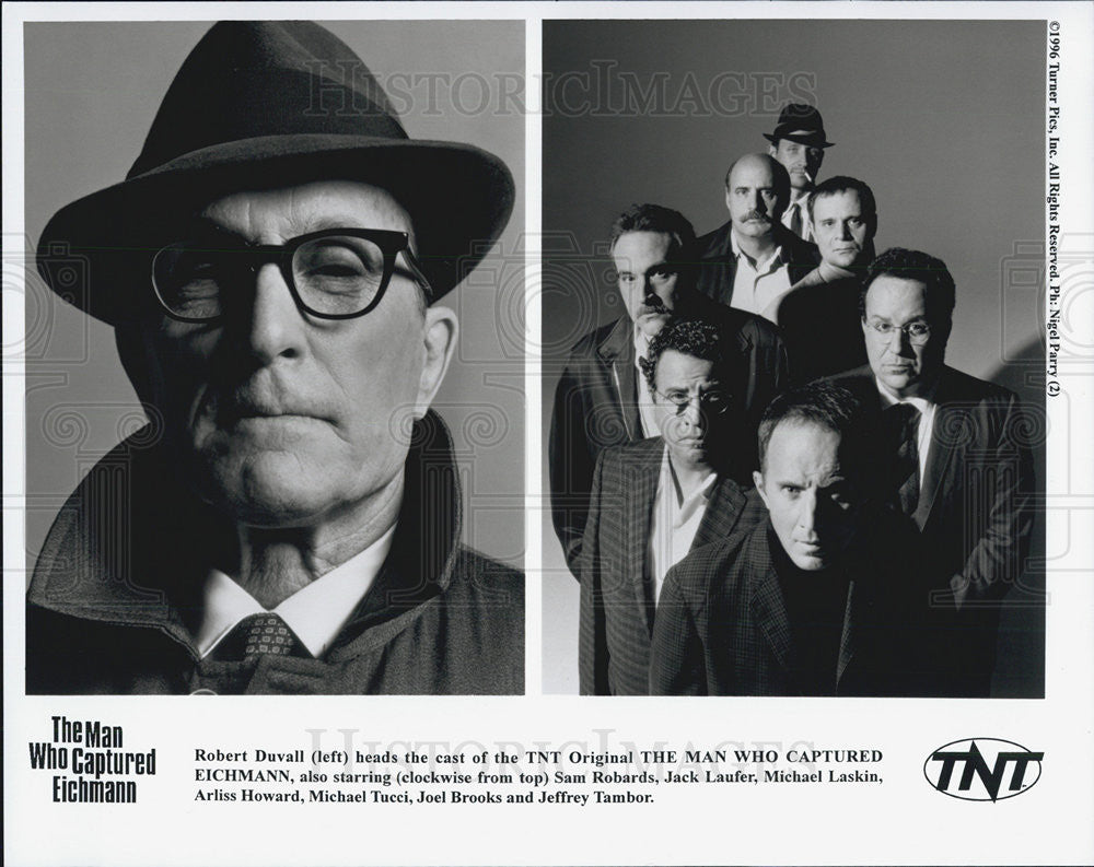 "Press Photo ""Man Who Captured Eichmann"" Actor Robert Duvall & Cast Arliss Howard - Historic Images"