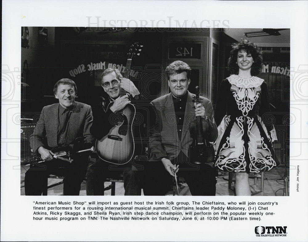 "Press Photo ""Chieftains"" Irish Folk ""American Music Shop TNN Nashville Network - Historic Images"