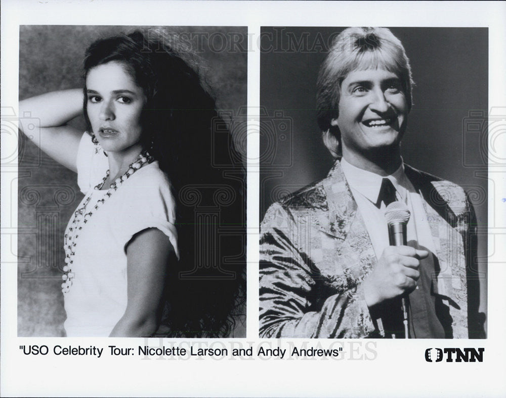 Press Photo Nicolette Larson and Andy Andrews - Historic Images