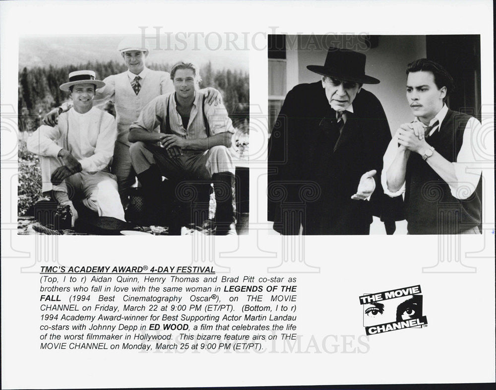 Press Photo Aiden Quinn Brad Pitt and Henry Thomas in Legends of the fall - Historic Images