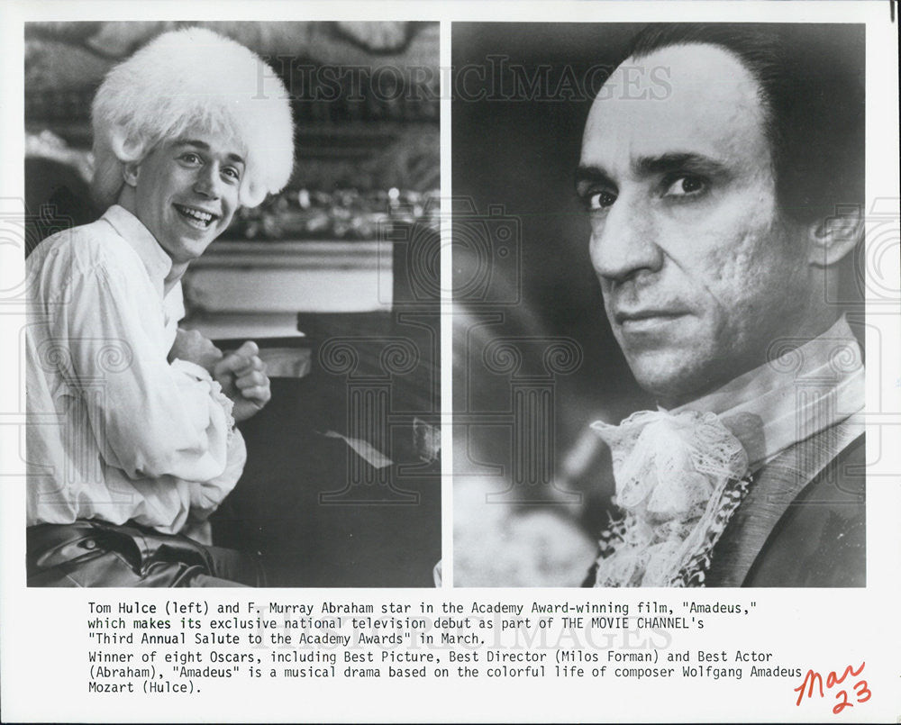 Press Photo Actors Tom Hulce and F Murray Abraham - Historic Images